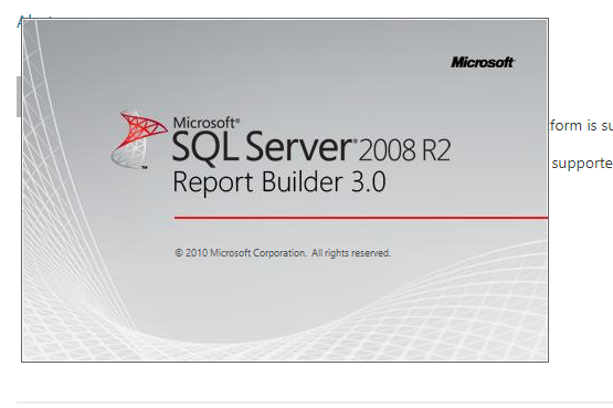 Report Builder 3 0 crashes with Problem Event Name: CLR20r3