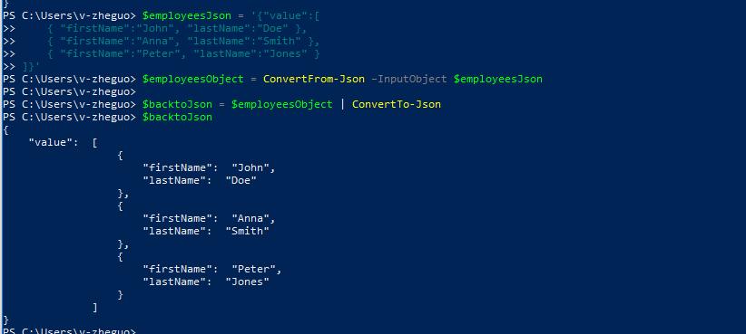 Convert CSV to JSON using PowerShell