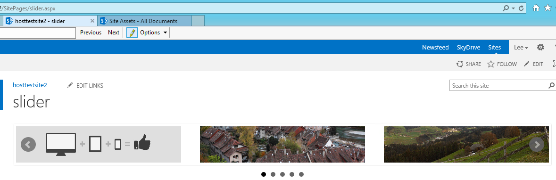 Slider menu in SharePoint