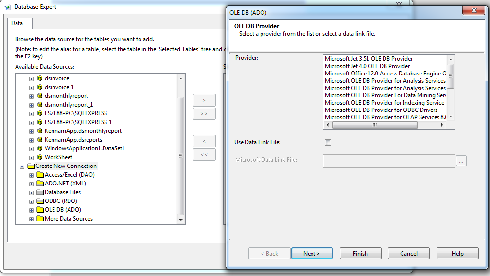 ole db provider for mysql