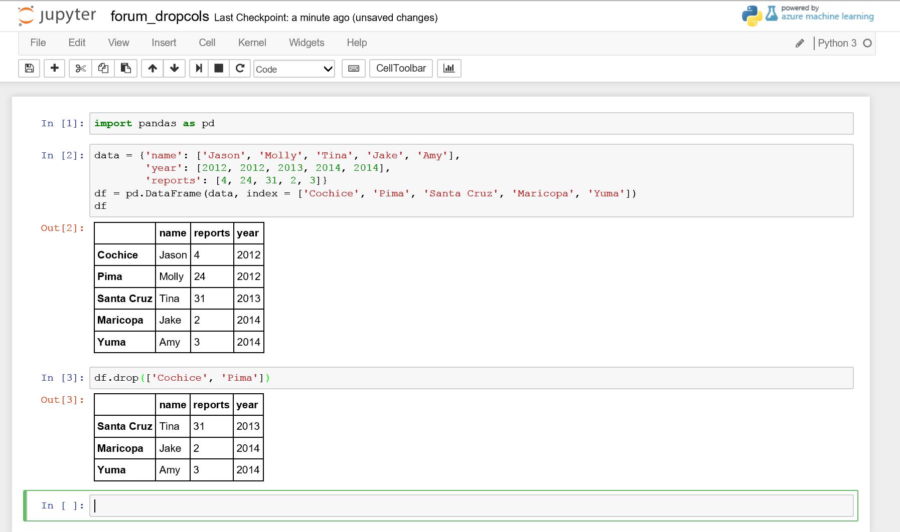 running python script