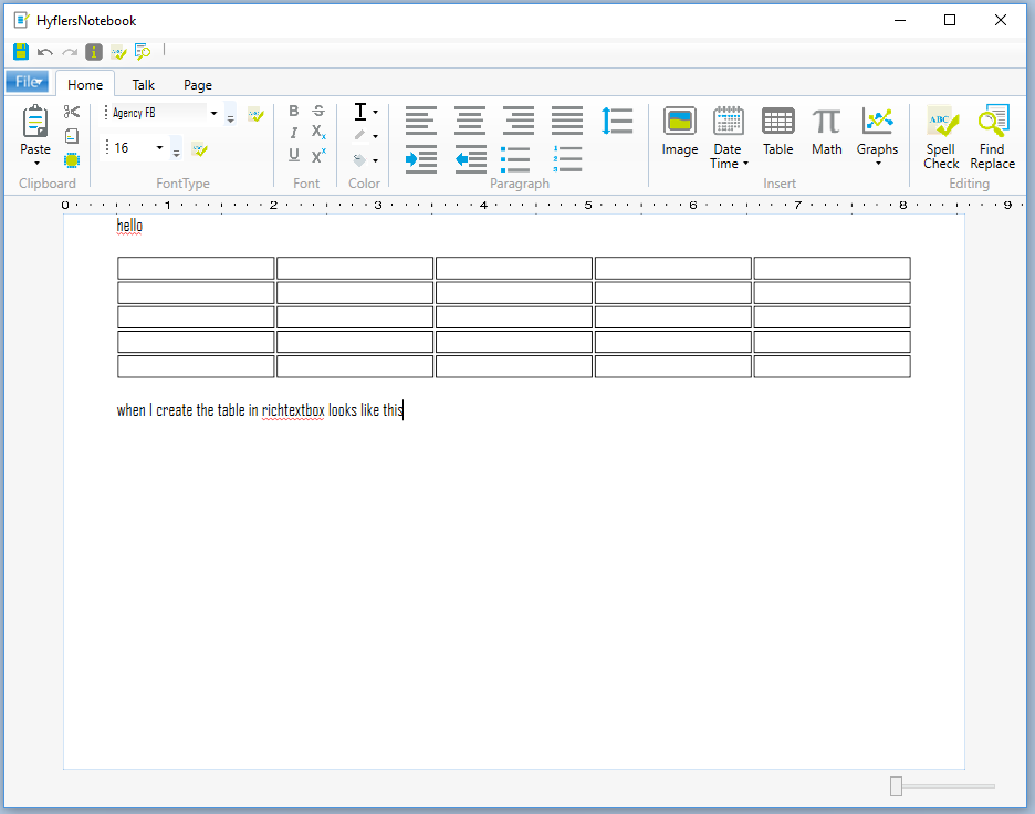 wpf c# i have create table code the table resized after i