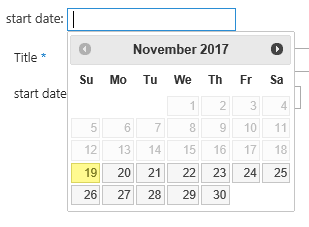 Show start date greater than today in sharepoint 2013 date time