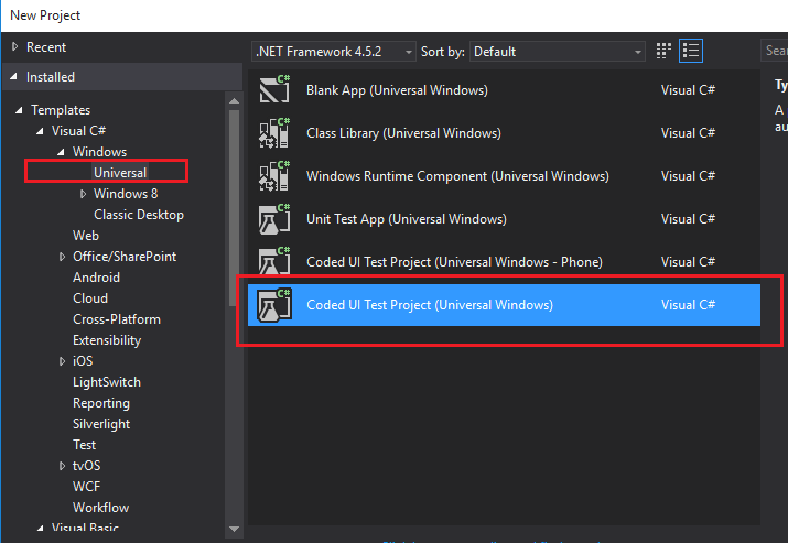 CodedUI tests failing in VS 2015 with error: