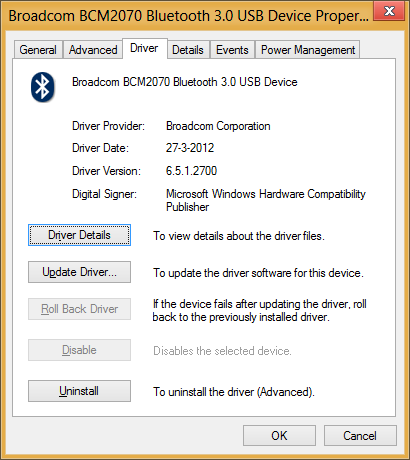 Driver version