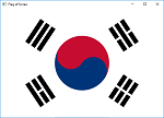 Screen shot of a program Flag of Korea
