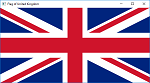 Screen shot of a program Flag of United Kingdom
