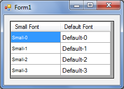 How to change the Font Size of text in a specified column of