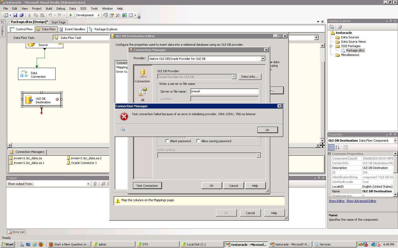 how to solve ora 12541 error
