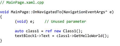 Client code