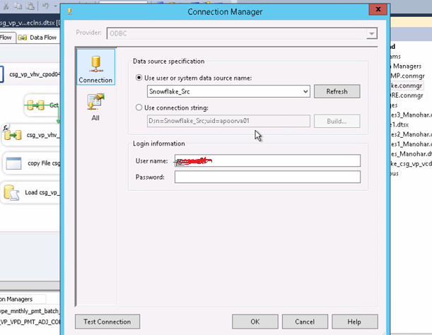 Load data from MySQL to Snowflake data warehouse through SSIS