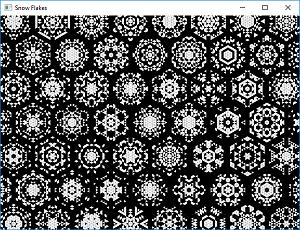 Screen shot of a program Snow Flakes