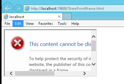 Refused to display 'https://test share com/sites/demo/_layouts/15