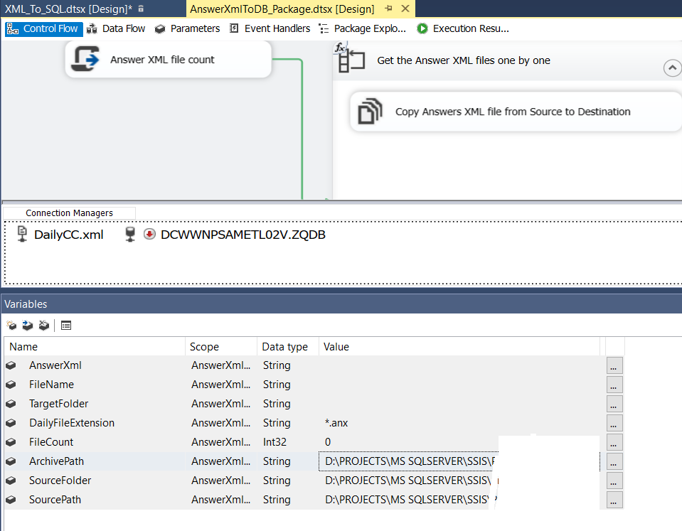 Is Config File Removed in SSDT 2017 while create SSIS