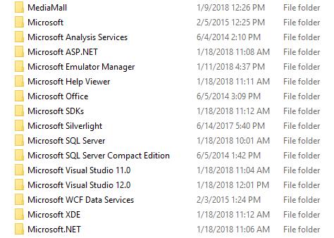 folders screenshot