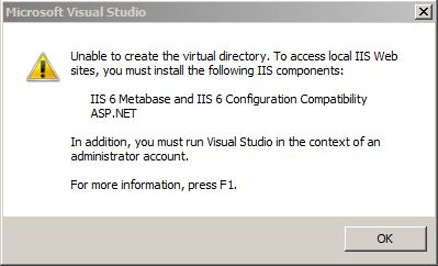 Erro do Visual Studio