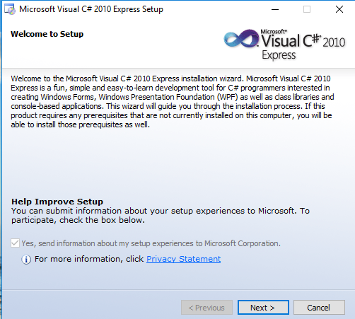 microsoft visual c# 2010 express