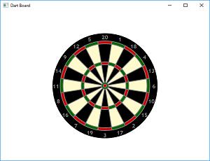 Screen shot of a program Dart Board 0.1
