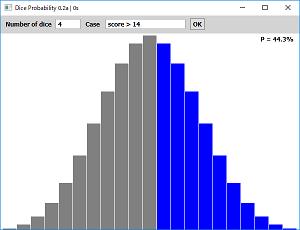Screen shot of a program Dice Probability 0.2a