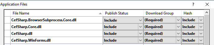 Could not load file or assembly 'CefSharp Core dll' or one of its