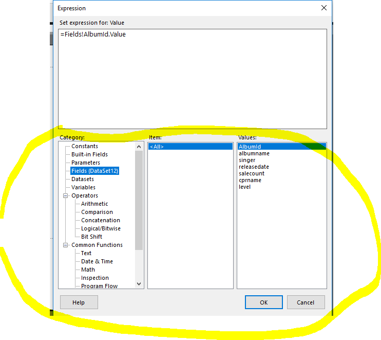 SSRS Row Visibility Expression Error