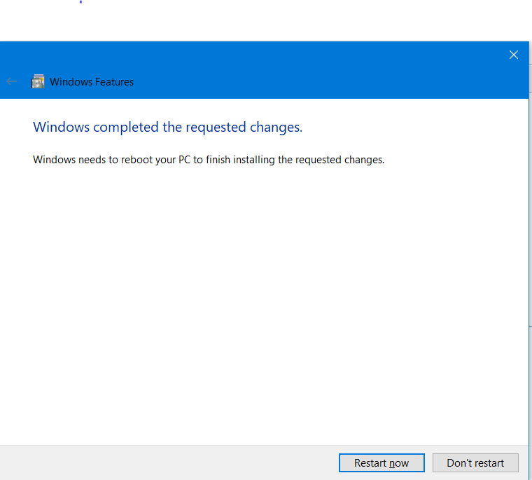 i restart my PC more than 20 Times !! and there is no change .recently   i  click on don't restart and there is no changes . also i downloaded it offline and there is no changes