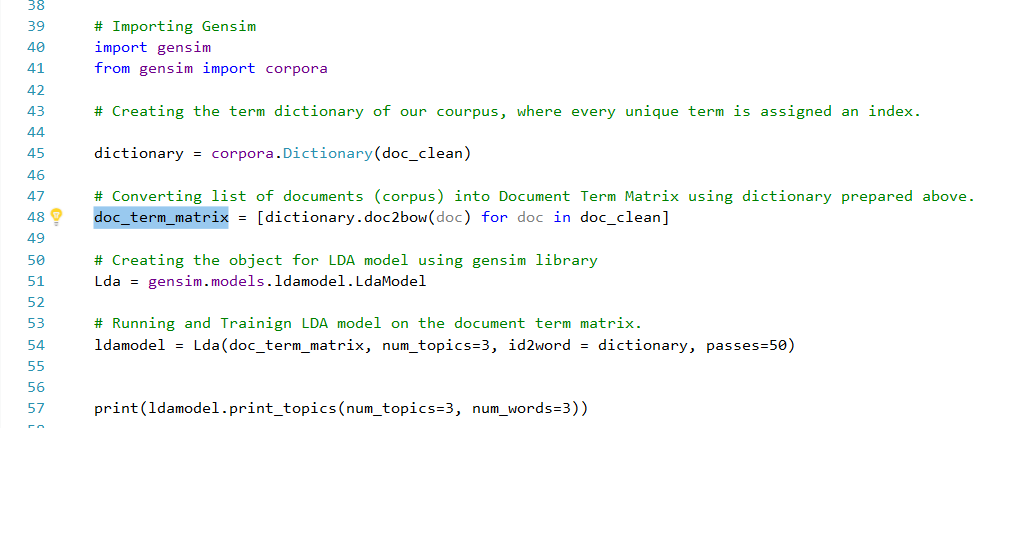 Passing parameters from C# to Python[for using in gensim] in