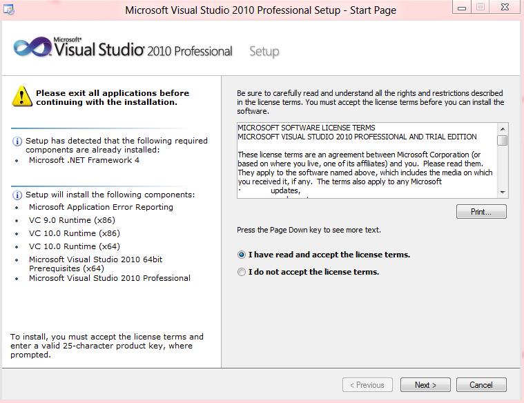 visual studio 2010 product key professional