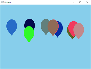 Screen shot of a program Balloons