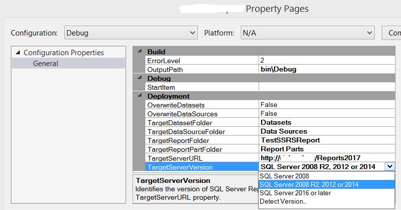 SQL Server 2012, Visual Studio 2017 and Report Builder