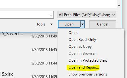 OpenXML generated file wont open in MS Spreadsheet Compare tool and