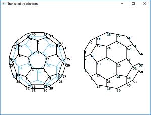 Screen shot of a program Truncated Icosahedron
