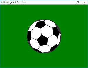 Screen shot of a program Rotating Classic Soccer Ball