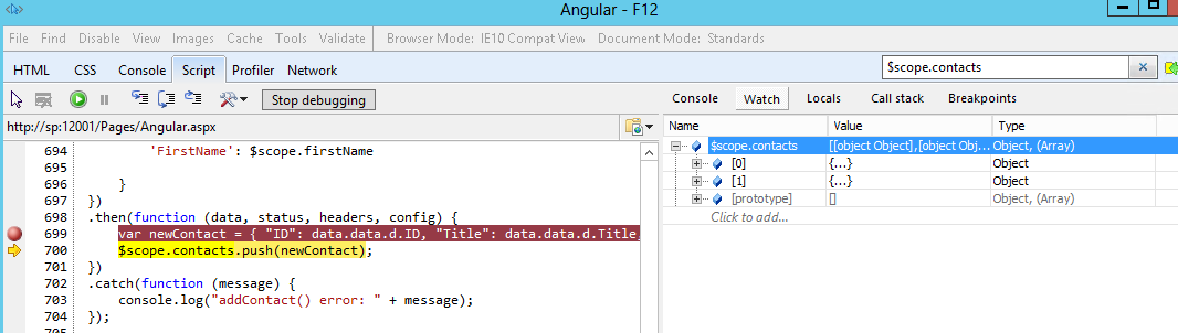 How to refresh or reload the controller in AngularJS after adding