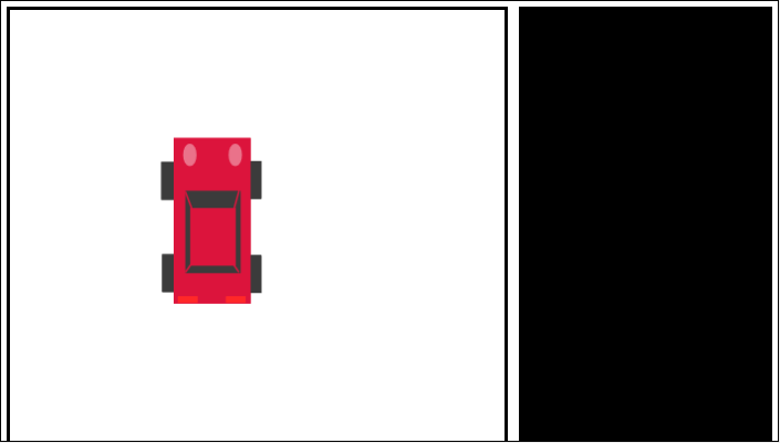 Screen shot of a program Crimson Car on Small Basic Online Public Preview