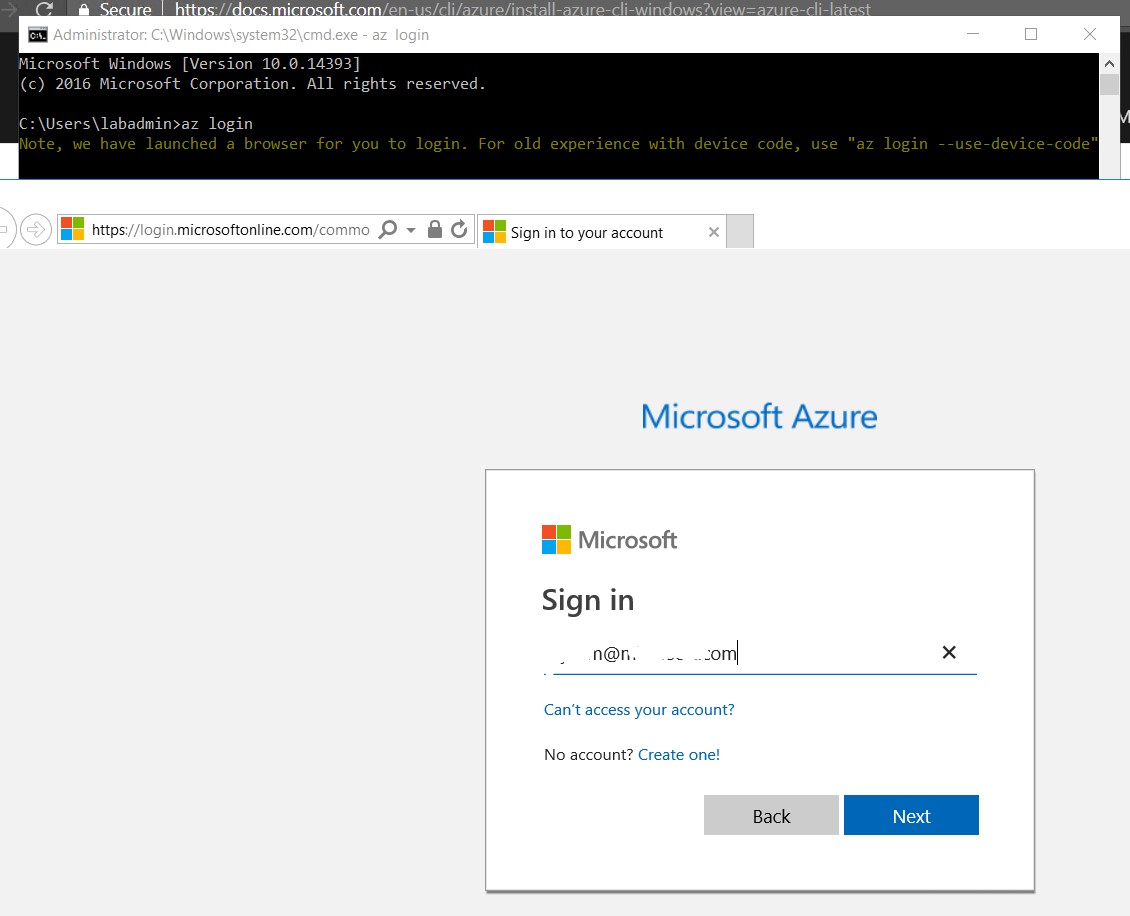 Getting SSL error when trying to access Azure CLI on windows