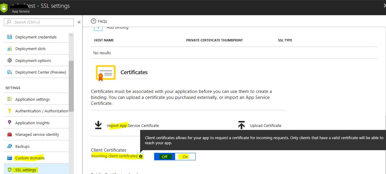 Lectory io - SSL Certificate Bindings
