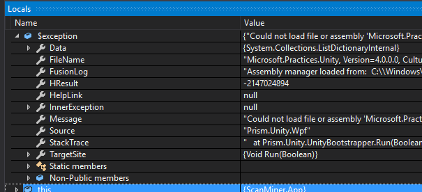 Could not load file or assembly Microsoft Practices Unity version