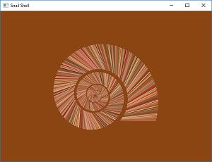 Screen shot of a program Snail Shell