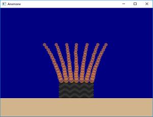 Screen shot of a program Anemone
