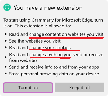 Sharepoint Promoted links and Grammerly Chrome Extension