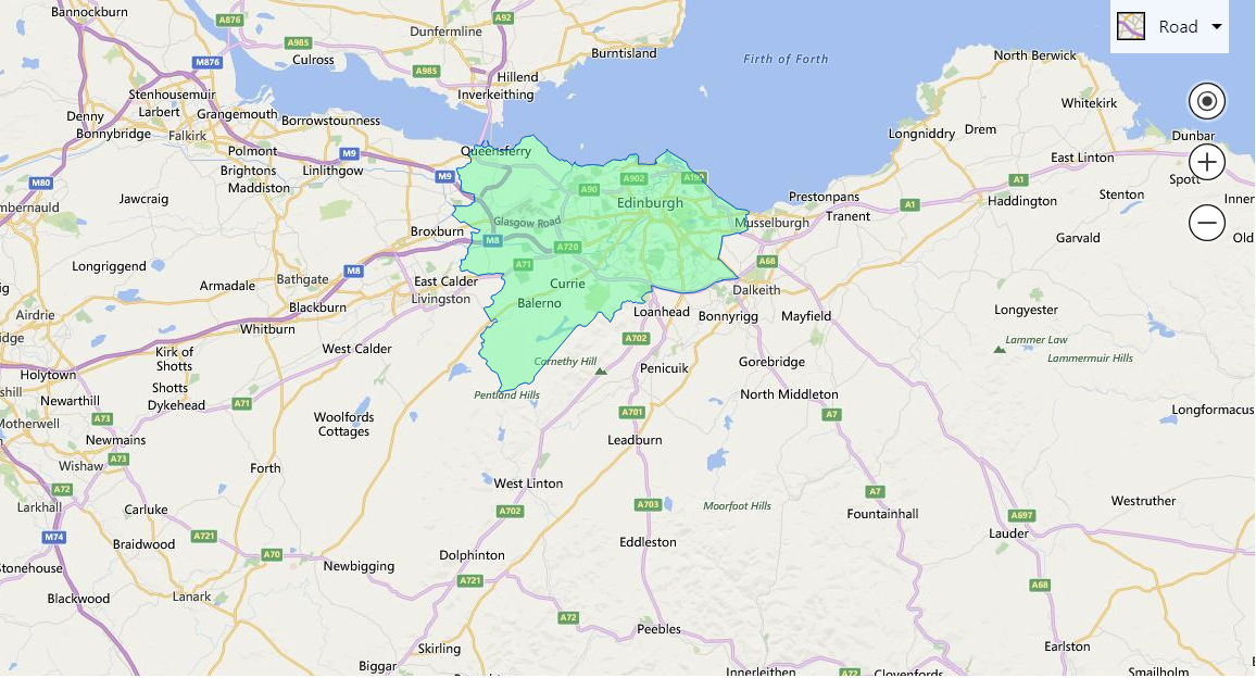 Incorrect boundary plotting using Bing Maps API - Microsoft