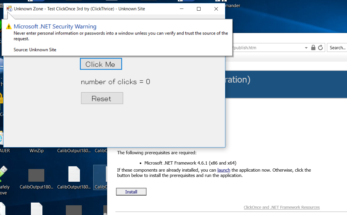 Debugging ClickOnce post-deployment issue - appref-ms not