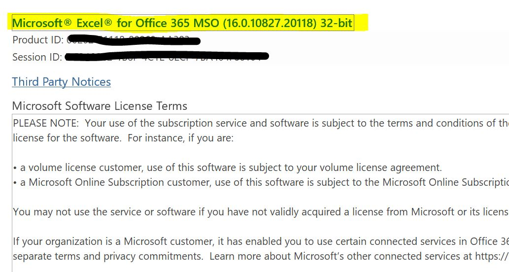 Ms excel volume license | Purchasing MS Office or Excel for Terminal