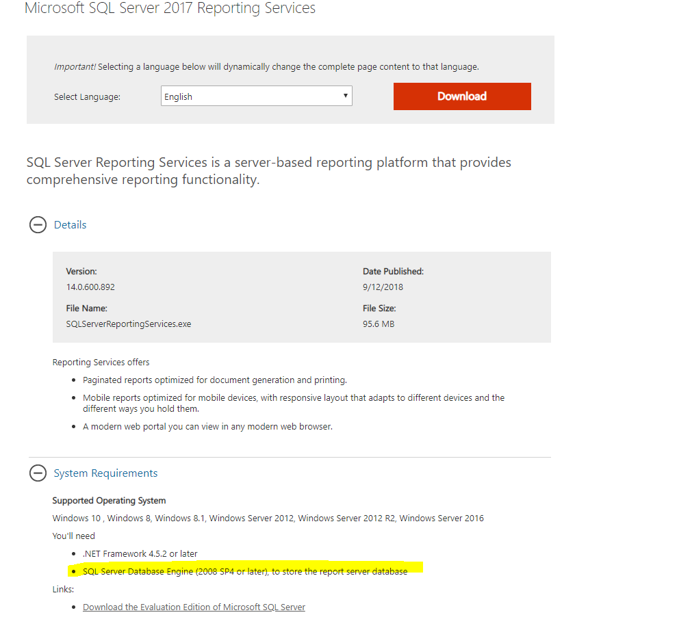 Upgrading to SSRS 2017 while still on SQL Server 2014?
