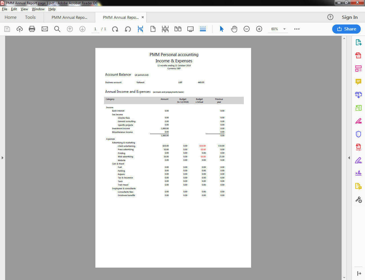 Microsoft Print to PDF not generating correct page size from