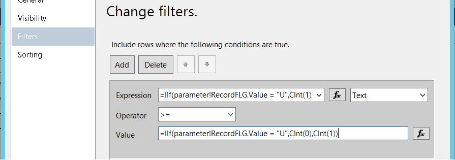 Failed to Evaluate filter value of the tablix 1