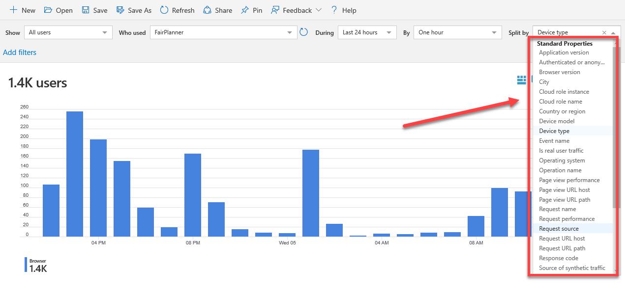 Example screenshot to show ment properties