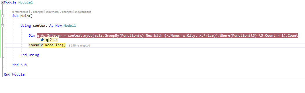 entity framework Group by multiple columns and count the