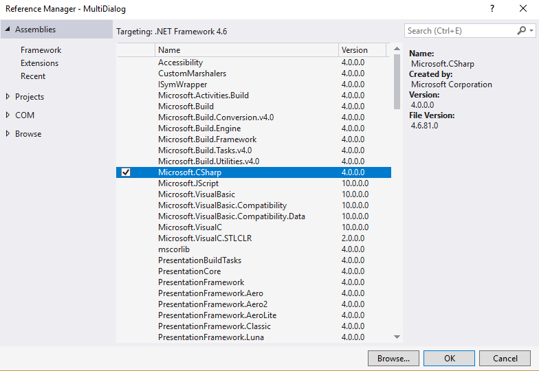 How to fix missing compiler member error Microsoft CSharp